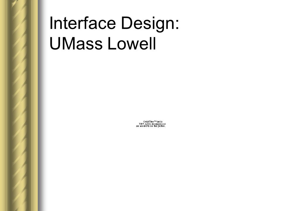 Interface Design: UMass Lowell