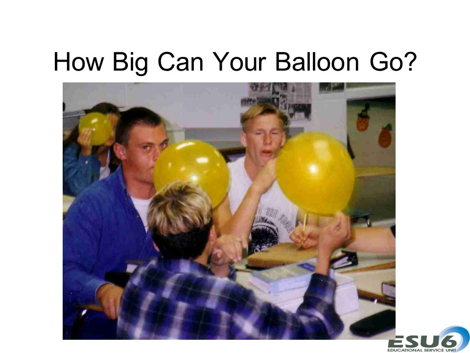 How Big Can Your Balloon Go?