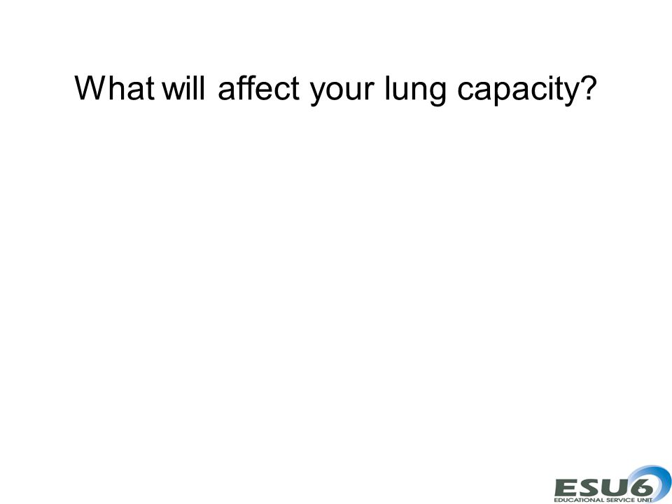 What will affect your lung capacity