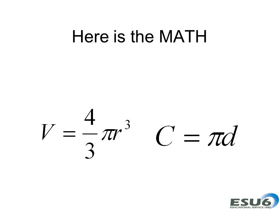 Here is the MATH