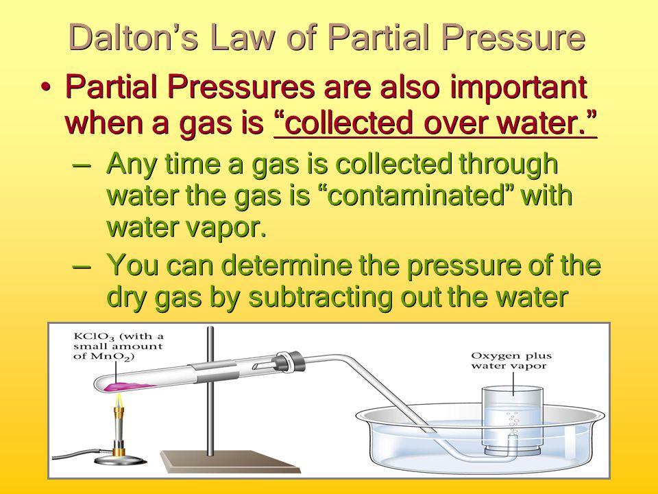 P T = P CO2 + P N2 + P O2 Simple Dalton's Law Calculation 760 mmHg =.285 mmHg + 593.525 mmHg + P O2 P O2 = 167mmHg