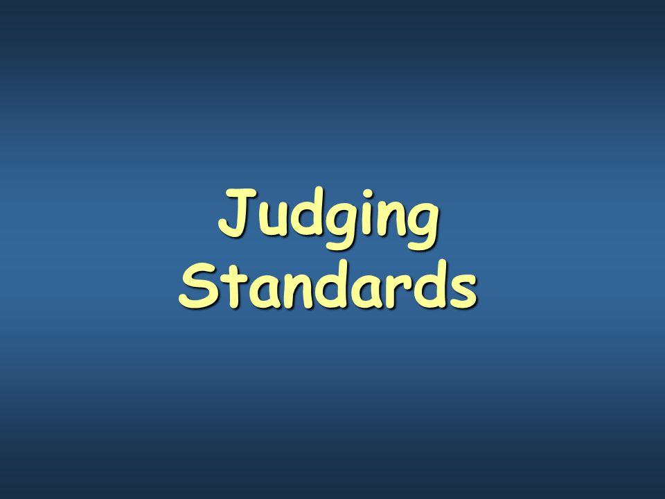 Judging Standards