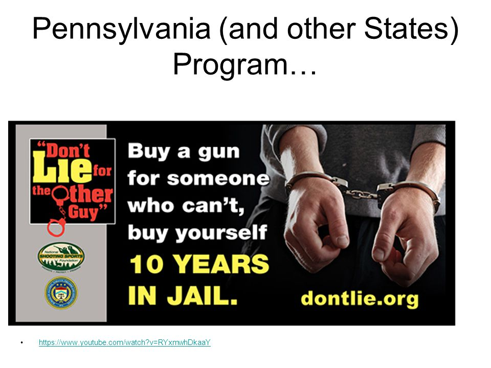 Pennsylvania (and other States) Program… https://www.youtube.com/watch?v=RYxmwhDkaaY