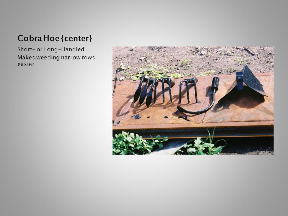 Cobra Hoe {center} Short- or Long-Handled Makes weeding narrow rows easier