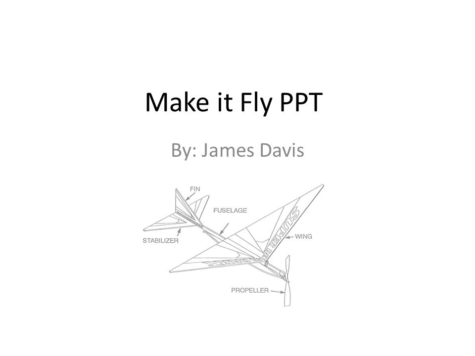 Make it Fly PPT By: James Davis