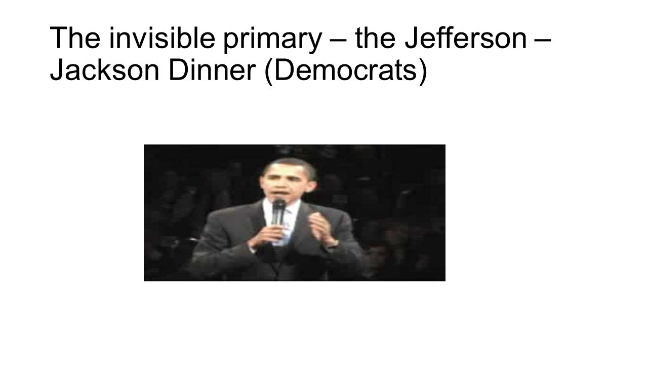 The invisible primary – the Jefferson – Jackson Dinner (Democrats)