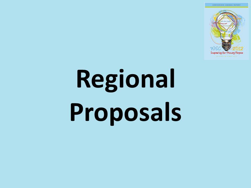 Regional Proposals