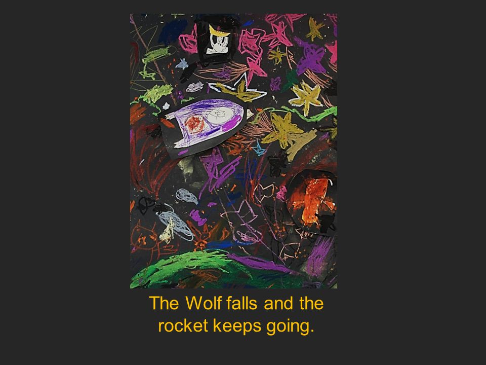 The Wolf falls and the rocket keeps going.