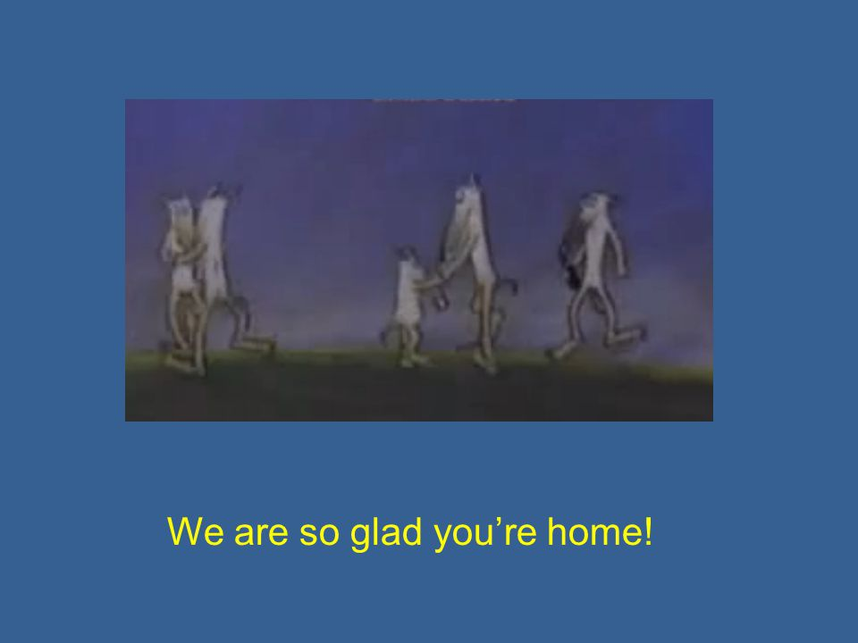 We are so glad you're home!