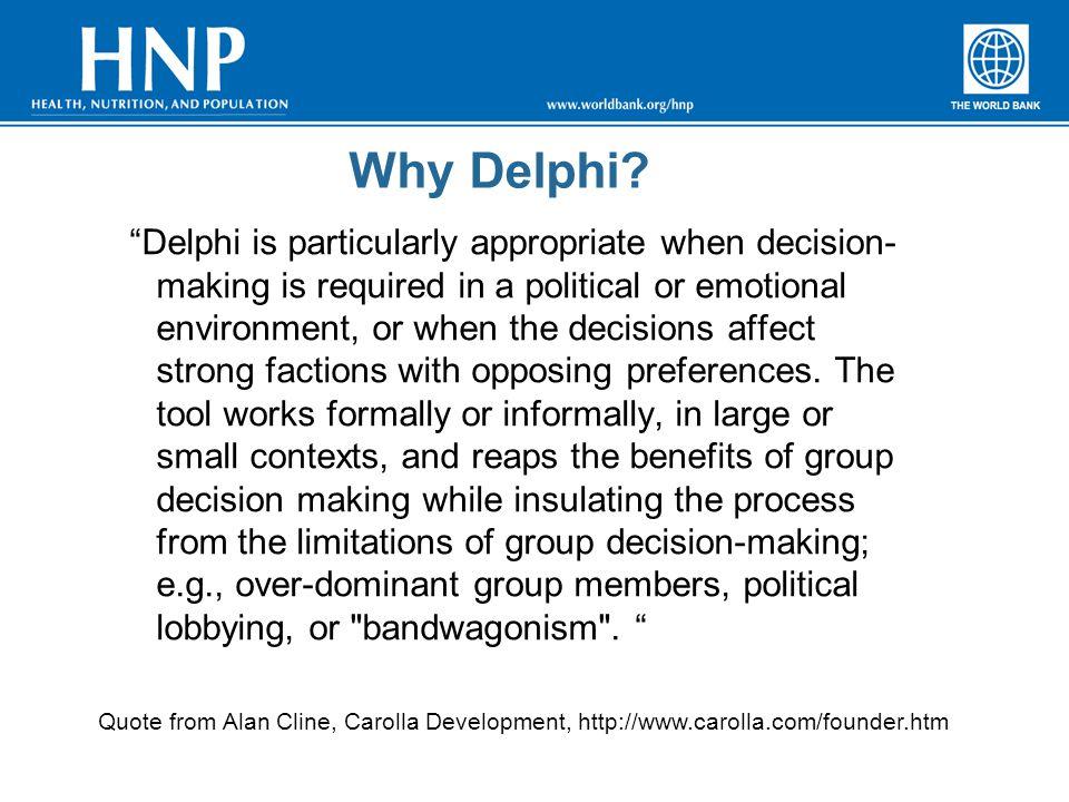 Why Delphi.