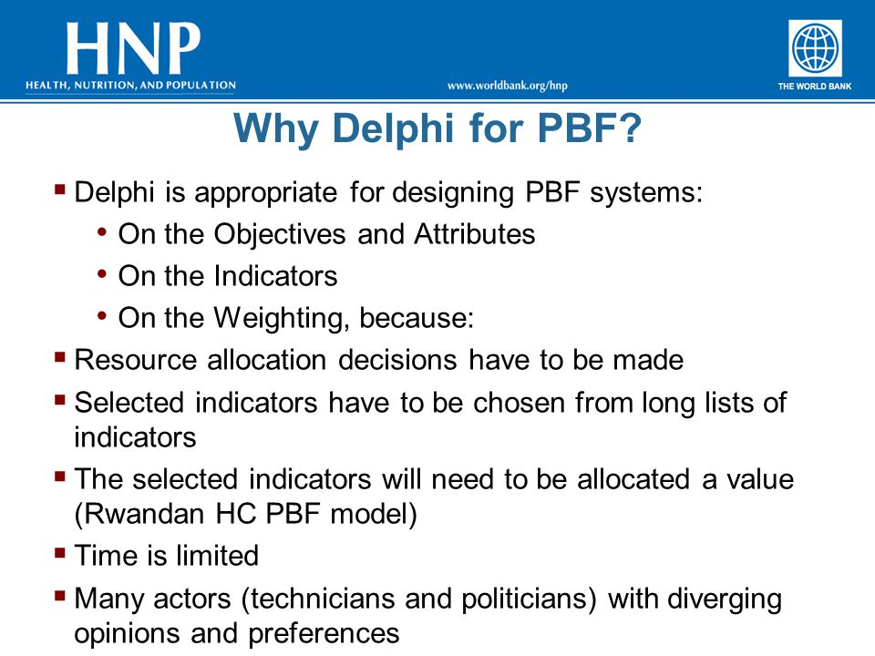 Why Delphi for PBF.