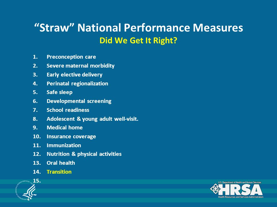 Straw National Performance Measures 13.Oral Health Definition i.