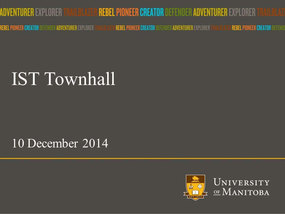 1 IST Townhall 10 December 2014