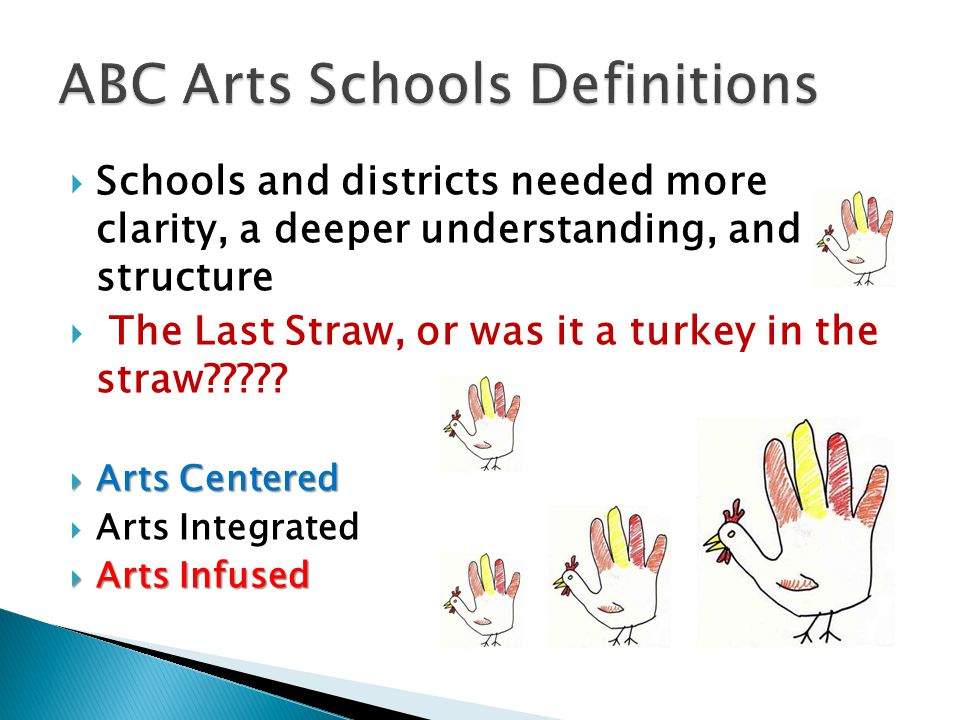  Schools and districts needed more clarity, a deeper understanding, and structure  The Last Straw, or was it a turkey in the straw????.