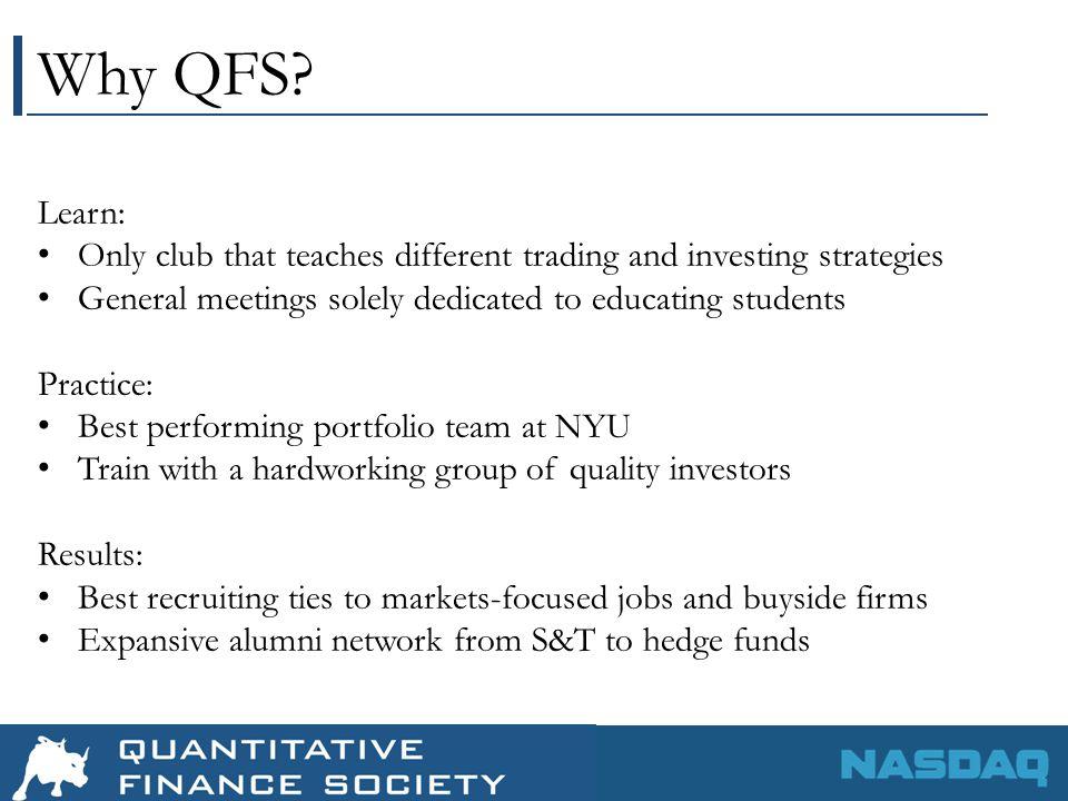 Why QFS.