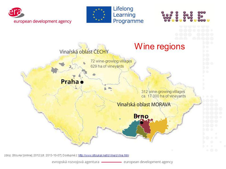 Wine regions zdroj: Stloukal [online]. 2012 [cit.