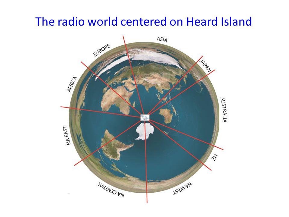 The radio world centered on Heard Island
