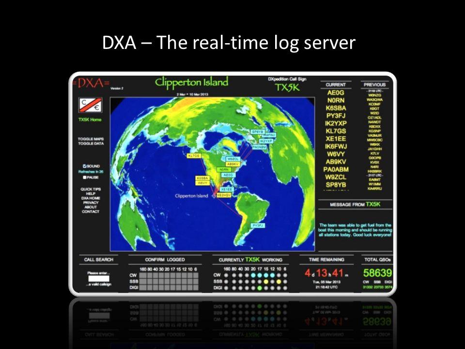 DXA – The real-time log server