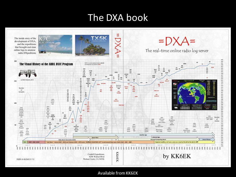 The DXA book Available from KK6EK
