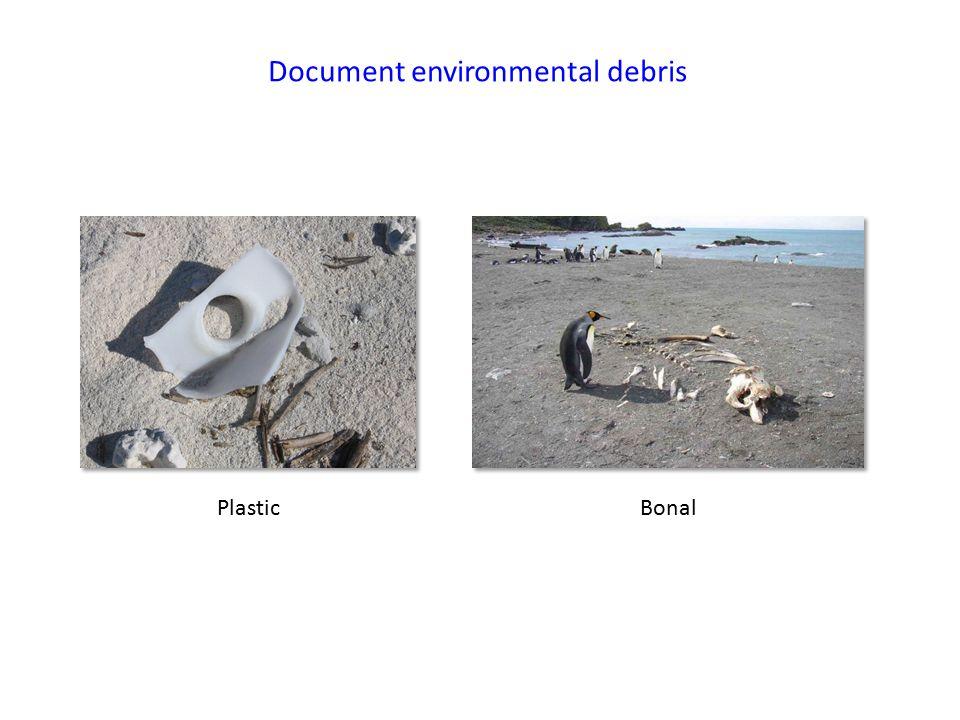 Document environmental debris Plastic Bonal