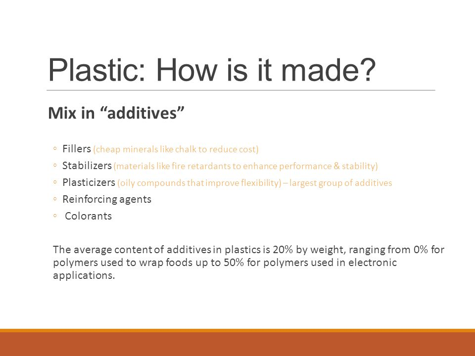 Plastic: How is it made.