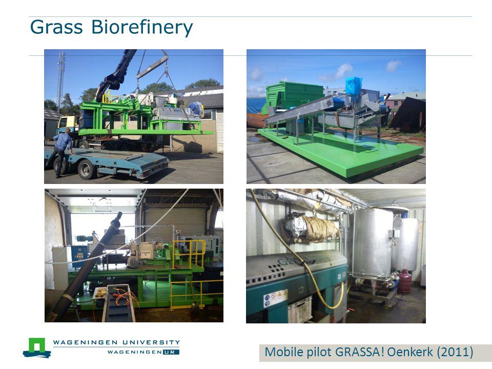 Mobile pilot GRASSA! Oenkerk (2011) Grass Biorefinery