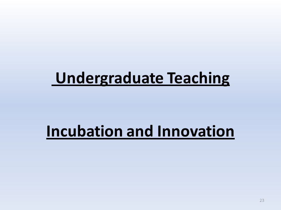 Undergraduate Teaching Incubation and Innovation 23