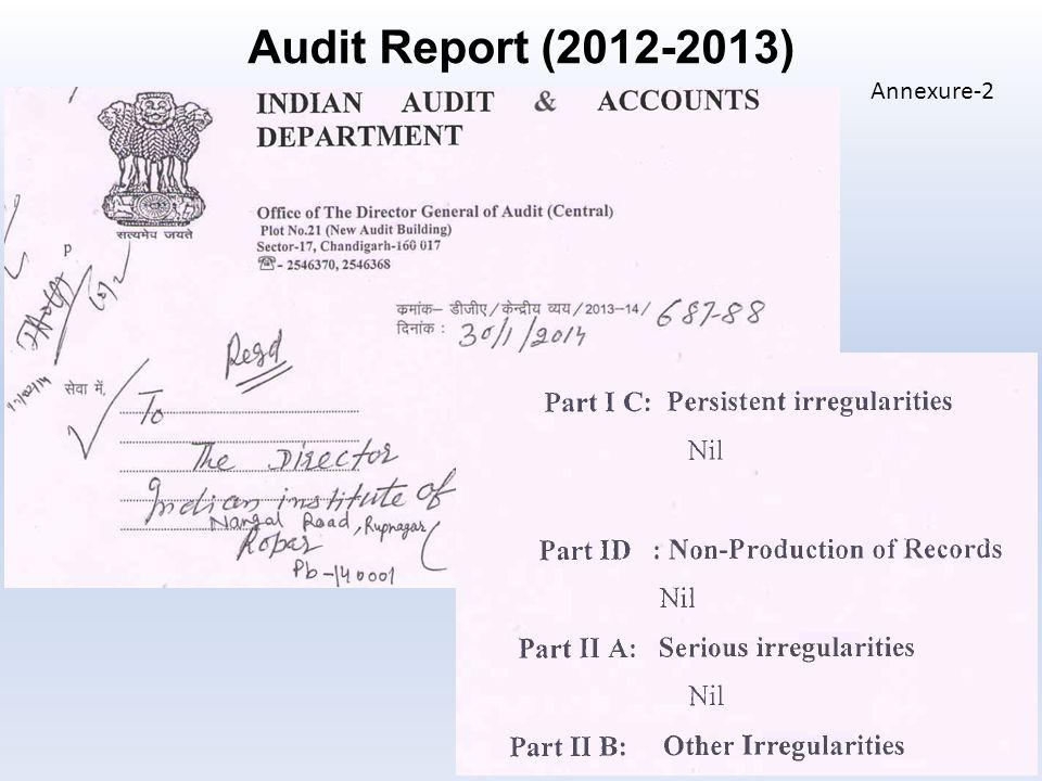 29 Audit Report (2012-2013) Annexure-2