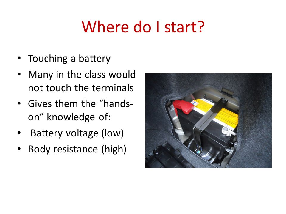 You can't see or feel electricity They have to measure electricity Voltage is the most commonly used measurement specified Measure voltage on their vehicles