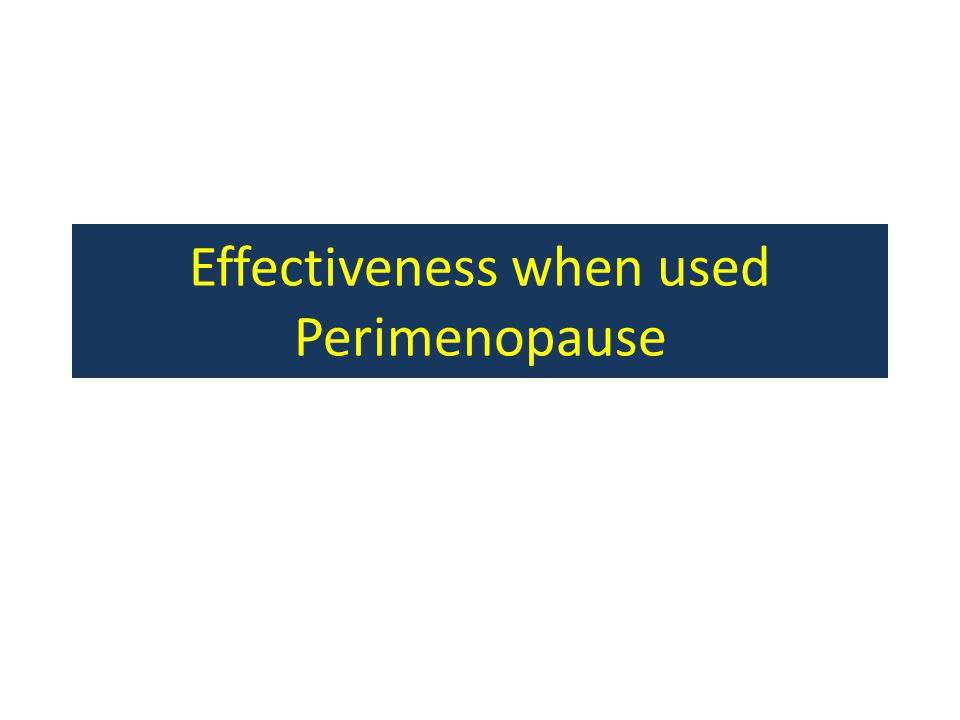 Problem Not a lot known about the use of NFP/FABM during the peri-menopause transition.
