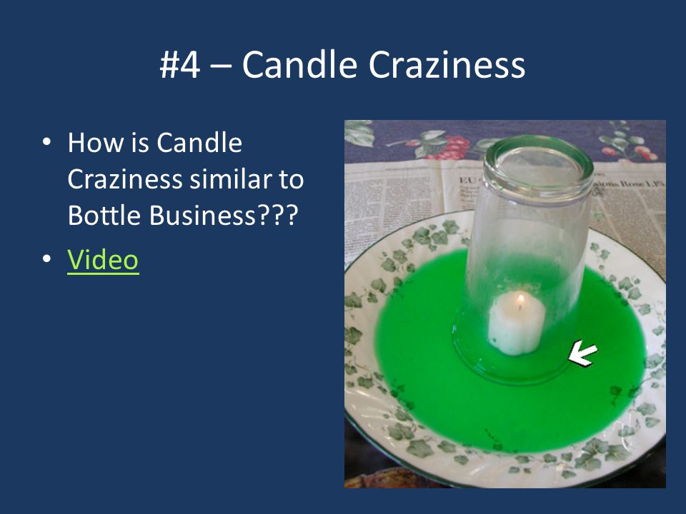 #4 – Candle Craziness How is Candle Craziness similar to Bottle Business Video