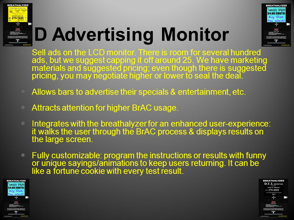 HD Advertising Monitor Sell ads on the LCD monitor.