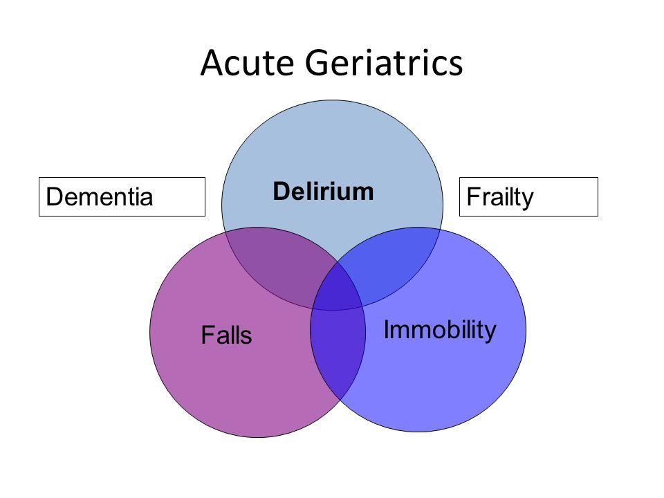 Acute Geriatrics Delirium Falls Immobility DementiaFrailty