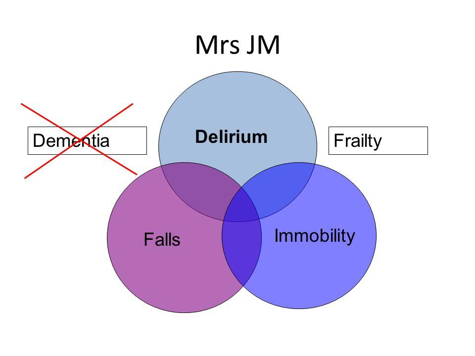Mrs JM Delirium Falls Immobility DementiaFrailty