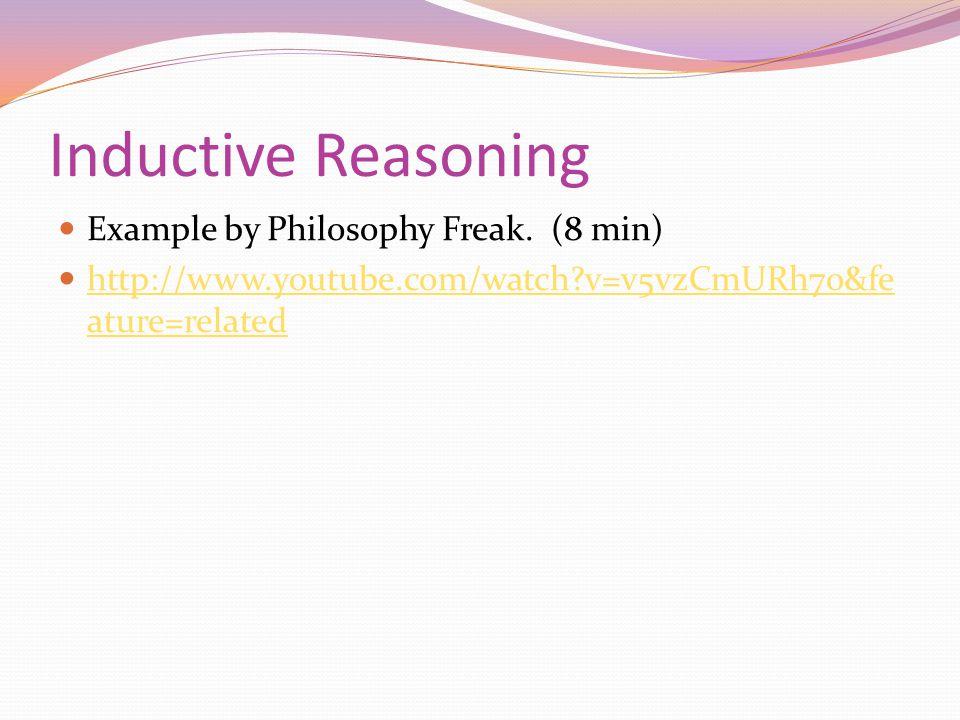 Inductive Reasoning Example by Philosophy Freak.