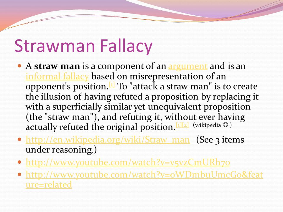 Straw Figure Example Straw Figure example: http://www.youtube.com/watch?v=v5vzCmURh7o