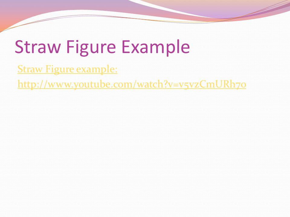 Straw Figure Example Straw Figure example: http://www.youtube.com/watch v=v5vzCmURh7o