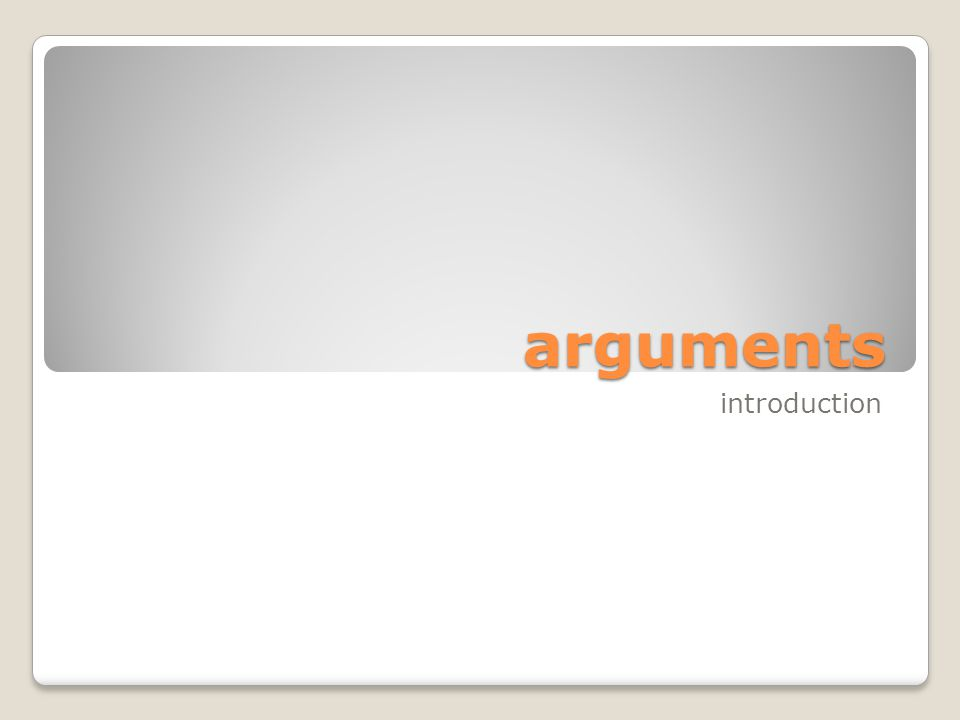 arguments An argument is a series of statements, one of which is offered as a statement to be supported, and the rest of which are offered as support.