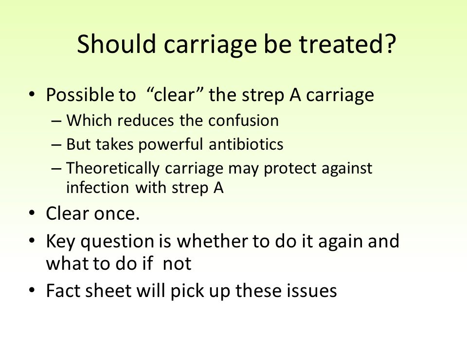 Should carriage be treated.