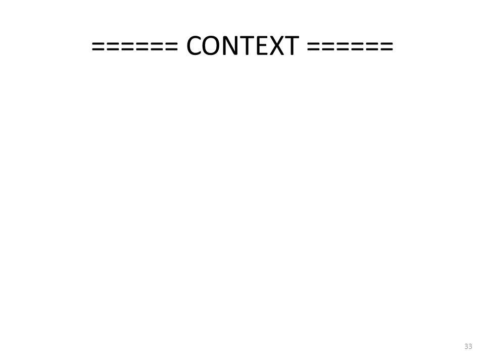 ====== CONTEXT ====== 33