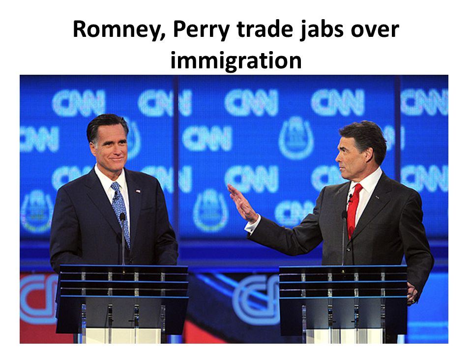 Romney, Perry trade jabs over immigration
