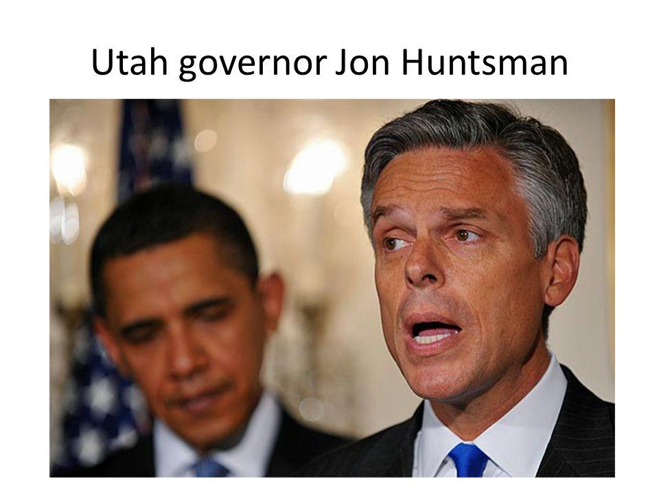 Utah governor Jon Huntsman