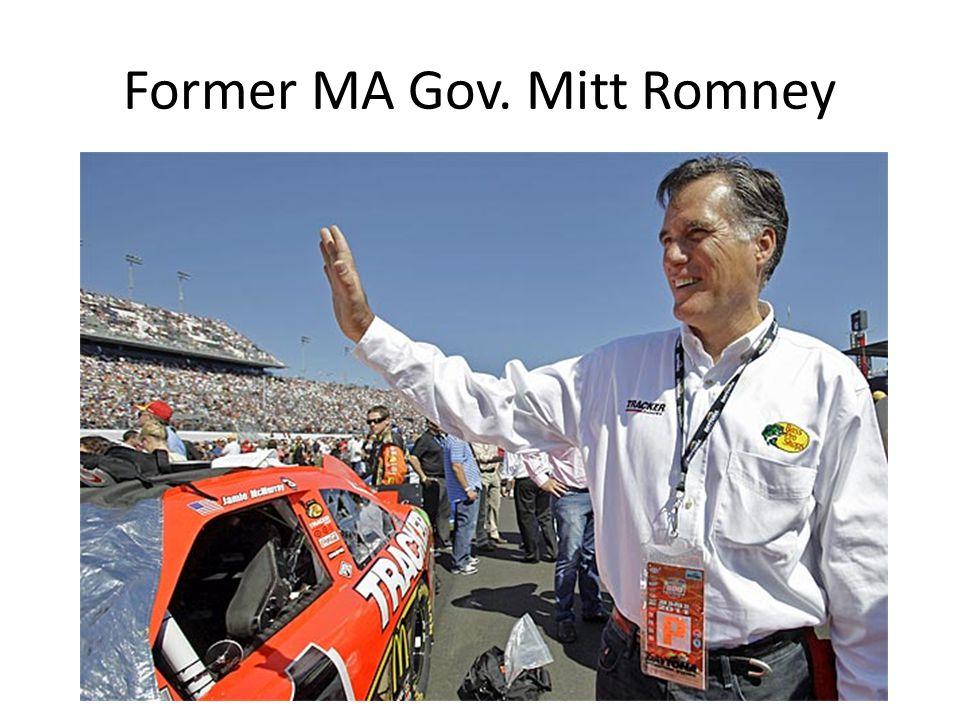 Former MA Gov. Mitt Romney