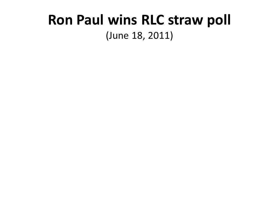 Ron Paul wins RLC straw poll (June 18, 2011)