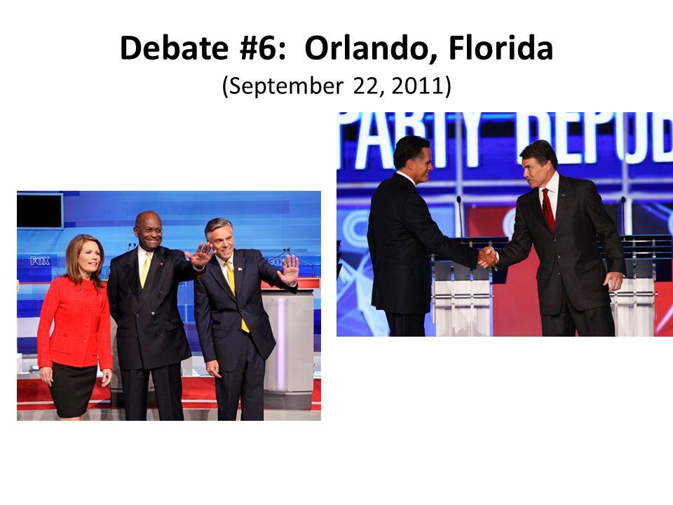 Debate #6: Orlando, Florida (September 22, 2011)