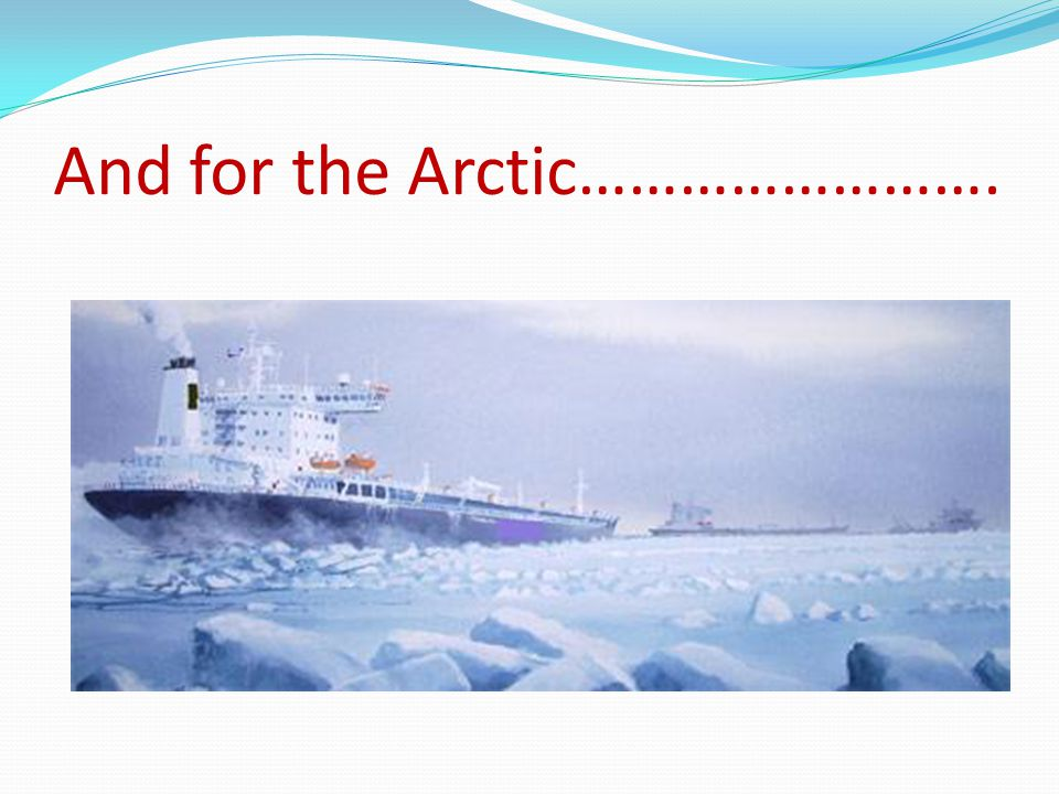 And for the Arctic…………………….