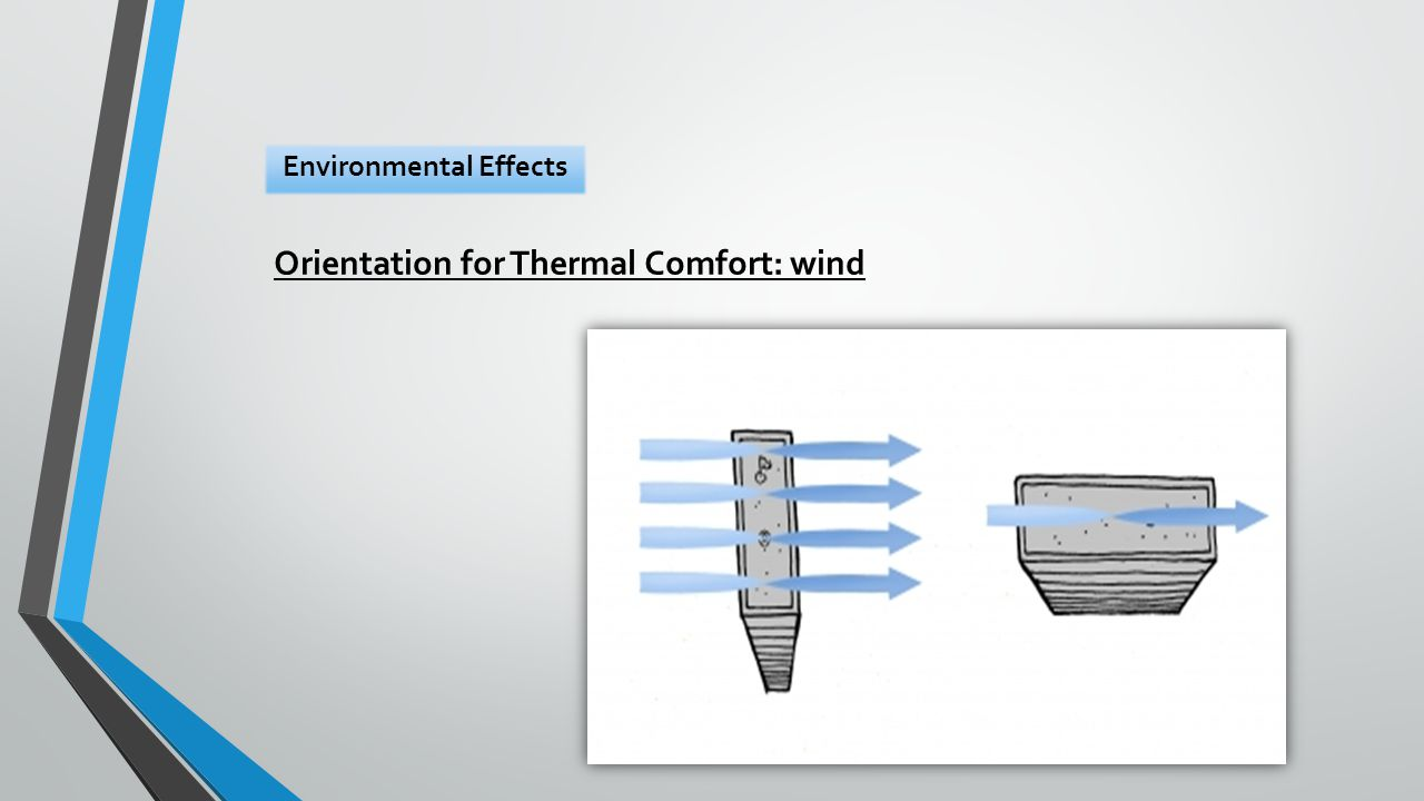 Orientation for Thermal Comfort: wind Environmental Effects
