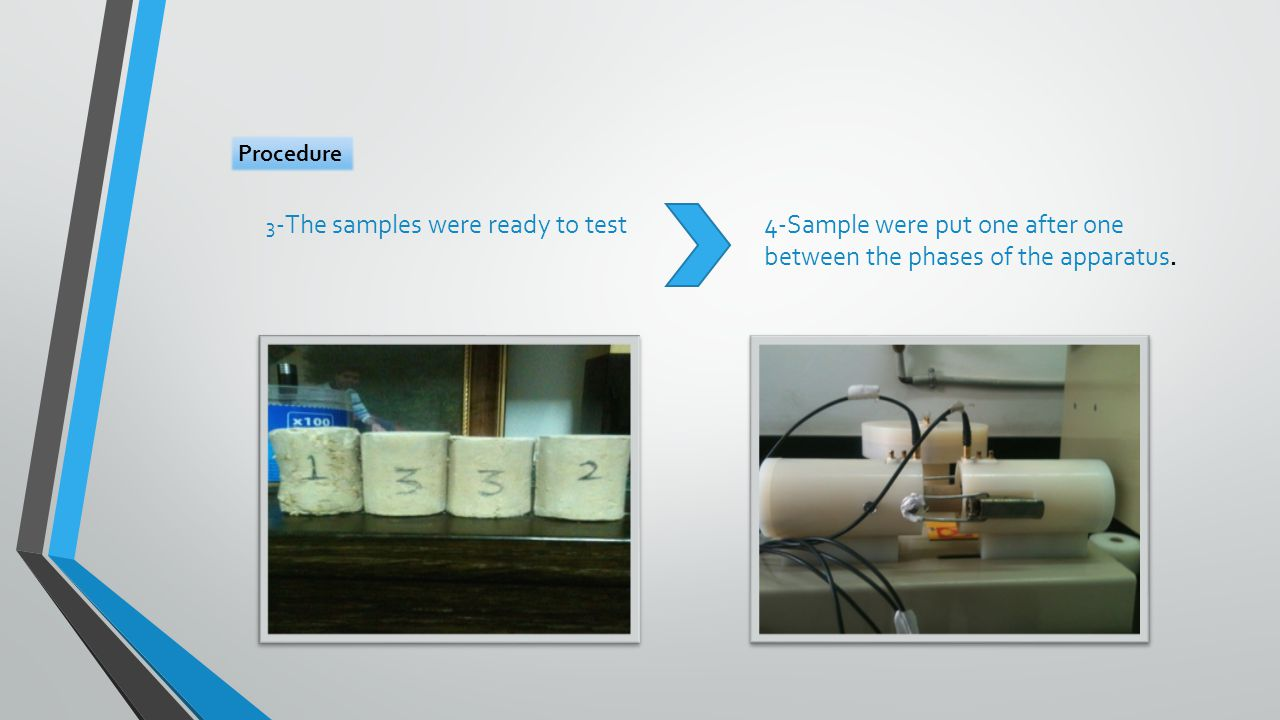3 -The samples were ready to test4-Sample were put one after one between the phases of the apparatus.