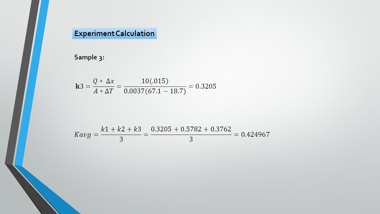 Sample 3: Experiment Calculation