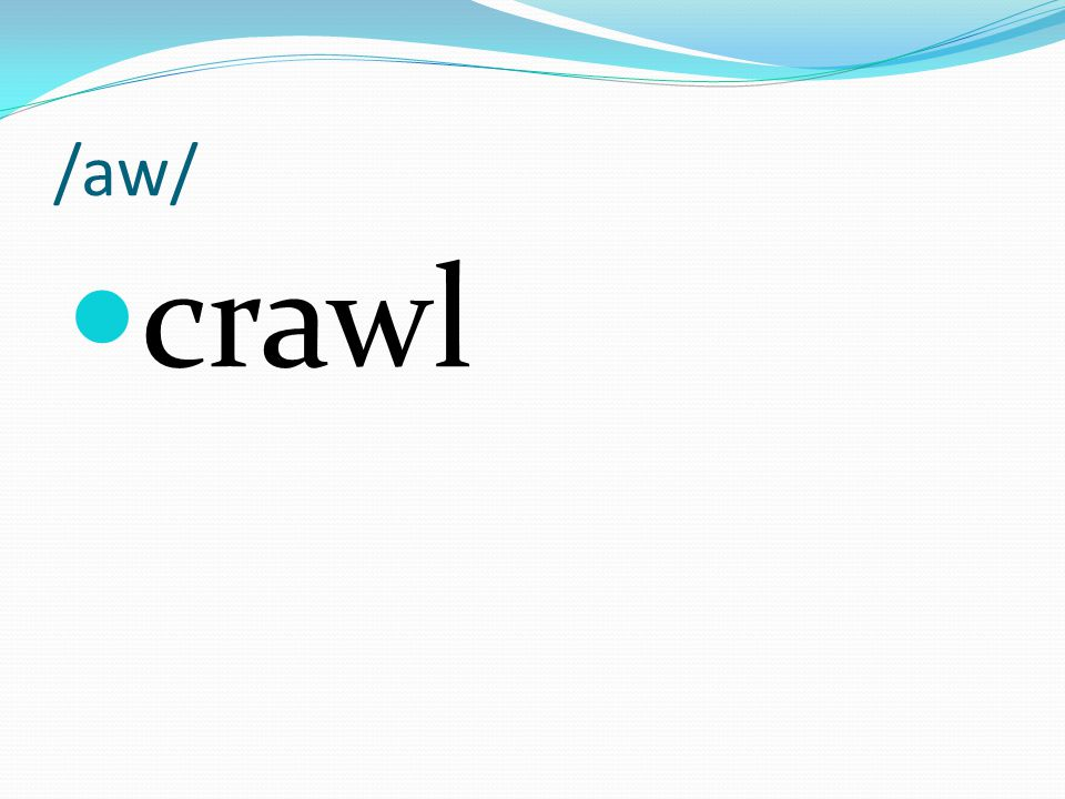 /aw/ crawl